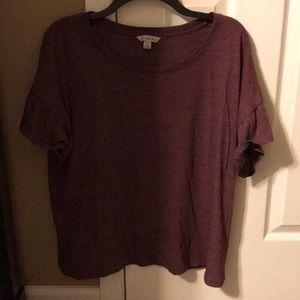 Calvin Kline ruffle shirt sleeve